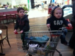 Boys shopping